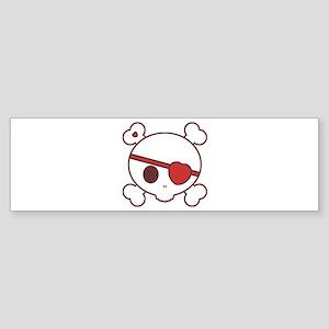 Valentine Skully Sticker (Bumper)
