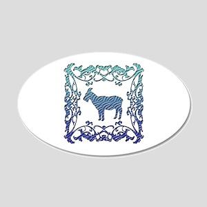 Goat 22x14 Oval Wall Peel