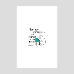 Massage Therapist Mini Poster Print
