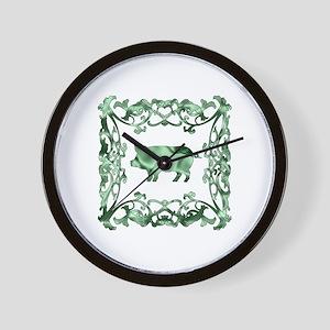 Pig Lattice Wall Clock