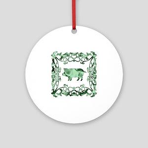 Pig Ornament (Round)