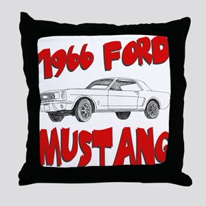 1966 Ford Mustang Throw Pillow