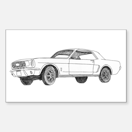 1966 Ford Mustang Sticker (Rectangle)