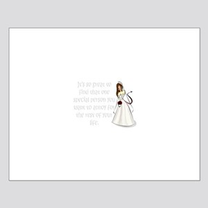 Brown eyed, brunette bride Small Poster