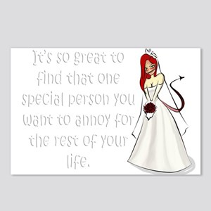Green eyed, redhead bride Postcards (Package of 8)