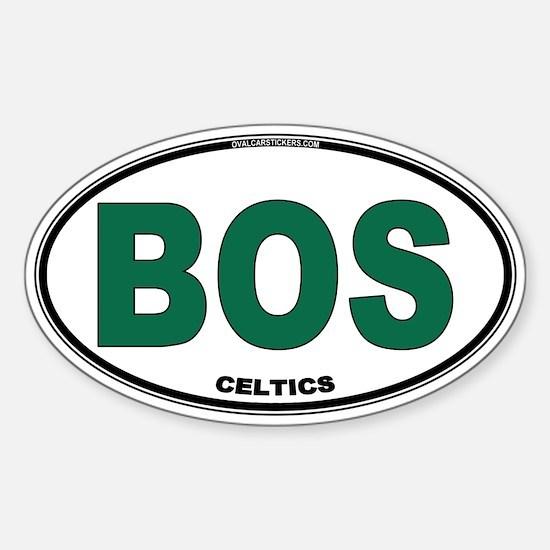 (BOS) Celtics Euro Oval Sticker (Oval)