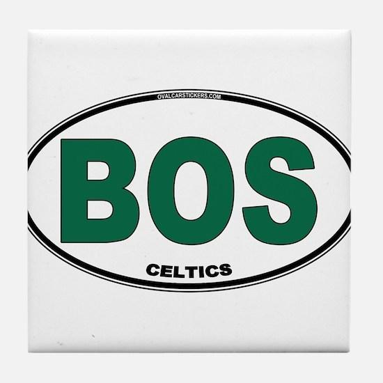 (BOS) Celtics Euro Oval Tile Coaster