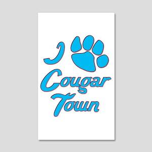 I Love Cougar Town 22x14 Wall Peel