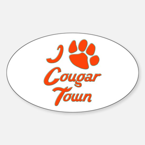 I Love Cougar Town Sticker (Oval)