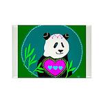 Panda Rectangle Magnet (10 pack)
