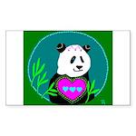 Panda Rectangle Sticker