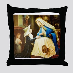 St.Catherine Laboure Throw Pillow
