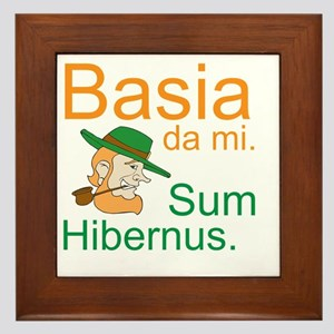 Kiss me. I'm Irish. (Latin) Framed Tile