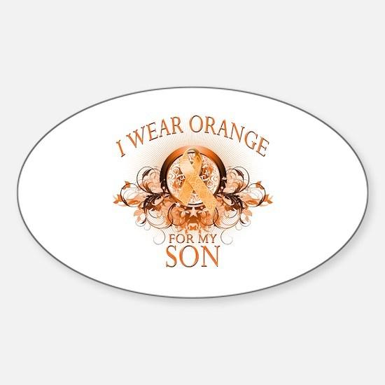 I Wear Orange for my Son (floral) Sticker (Oval)