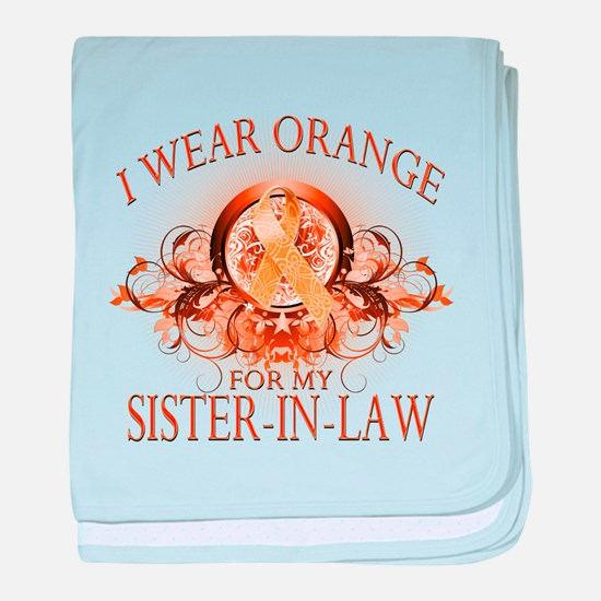 I Wear Orange for my Sister In Law (floral) baby b