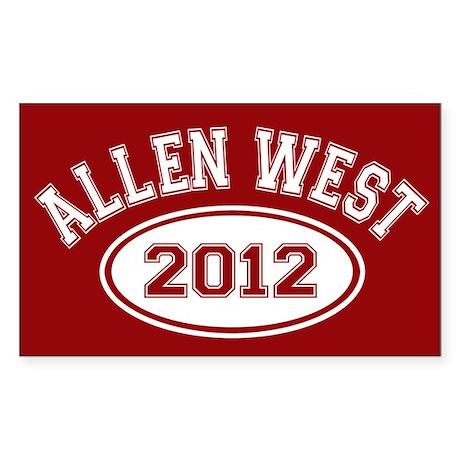Allen West 2012 Sticker (Rectangle)