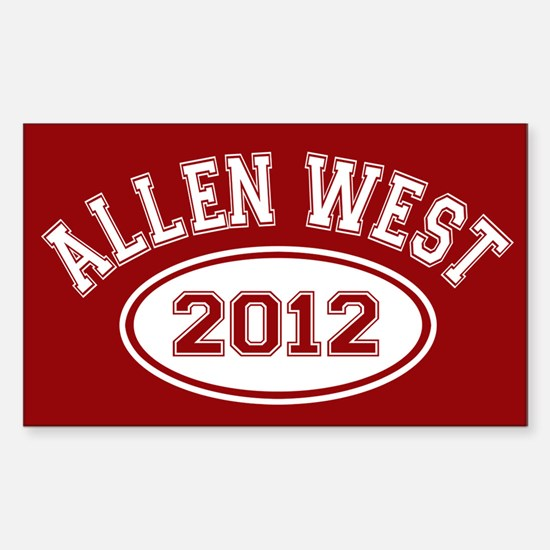 Allen West 2012 Sticker (Rectangle)