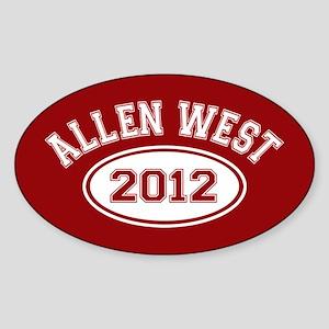Allen West 2012 Sticker (Oval)