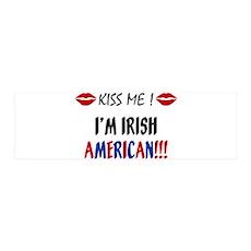 Kiss Me, I'm Irish American 42x14 Wall Peel