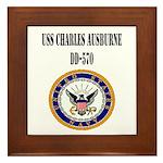 USS CHARLES AUSBURNE Framed Tile