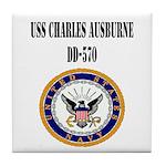 USS CHARLES AUSBURNE Tile Coaster