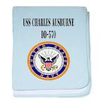 USS CHARLES AUSBURNE baby blanket
