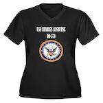 USS CHARLES AUSBURNE Women's Plus Size V-Neck Dark
