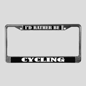Cycling License Frame