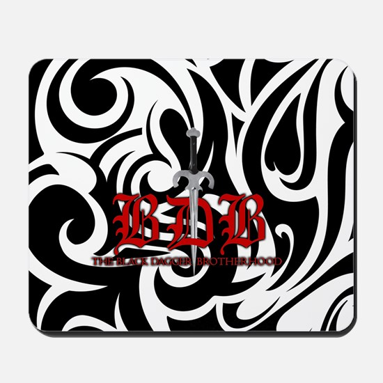 Bdb Dagger Logo Black And White Mousepad