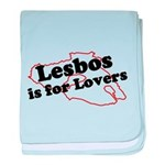 Lesbos is for Lovers baby blanket