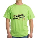 Lesbos is for Lovers Green T-Shirt