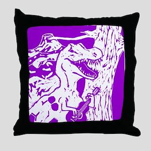 Purple Dino Throw Pillow