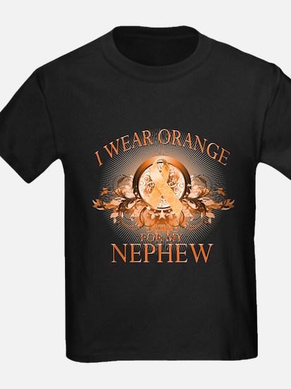 I Wear Orange for my Nephew (floral) T