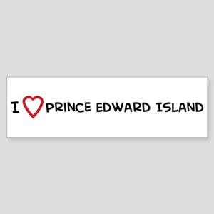 I Love Prince Edward Island Bumper Sticker