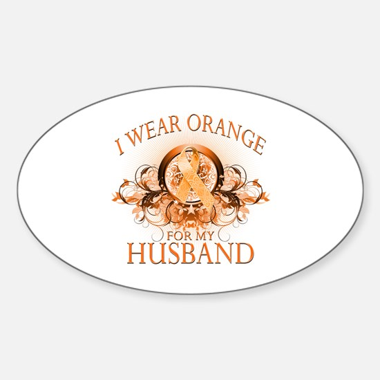 I Wear Orange for my Husband (floral) Decal