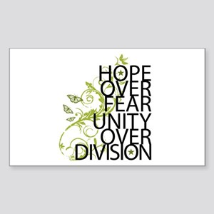 Obama Vine Half - Over Division Sticker (Rectangle