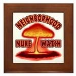 Neighborhood Nuke Watch Framed Tile