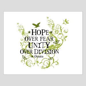 Obama Vine - Hope over Division Small Poster