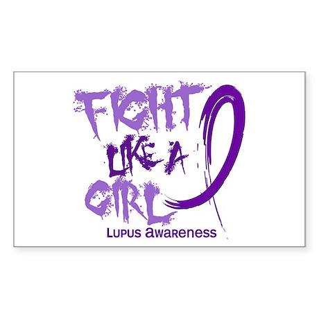 Fight Like A Girl Lupus Sticker (Rectangle)