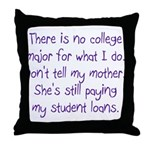 No College Major For This Throw Pillow