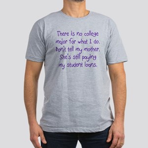 No College Major For This Men's Fitted T-Shirt (da