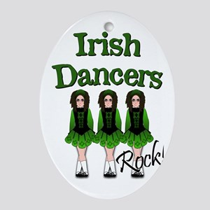Irish Dancer's Rock Ornament (Oval)