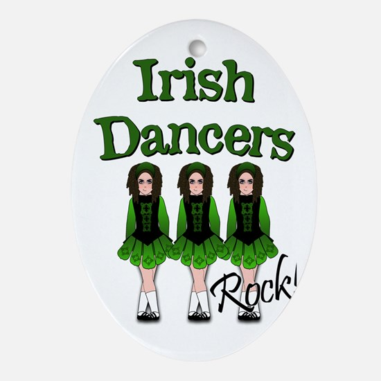 Irish Dancer's Rock Ornament (Oval)