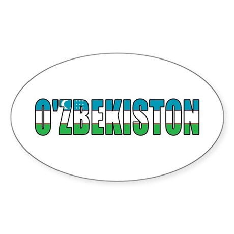 Uzbekistan Sticker (Oval)