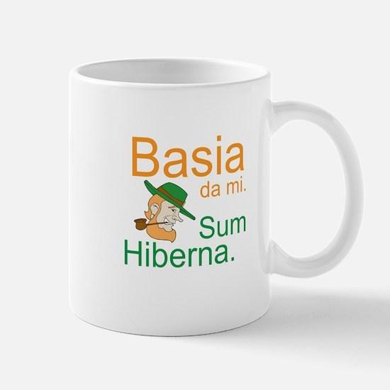 Kiss me. I'm Irish. (Latin; F Mug