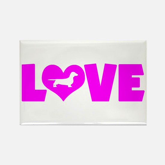 LOVE DACHSHUND (SMOOTH) Rectangle Magnet