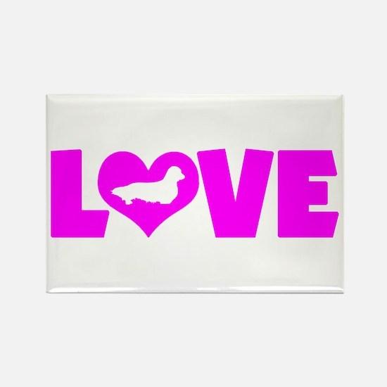 LOVE DACHSHUND (LONGHAIRED) Rectangle Magnet