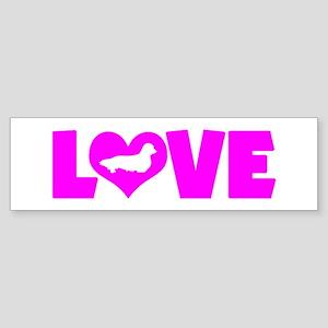 LOVE DACHSHUND (LONGHAIRED) Sticker (Bumper)