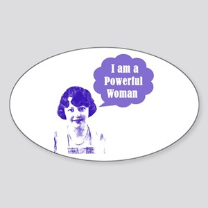 Powerful Woman Oval Sticker