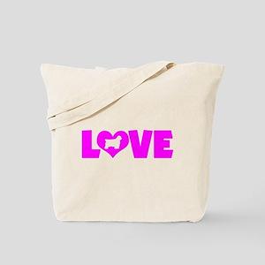 LOVE CLUMBER SPANIEL Tote Bag